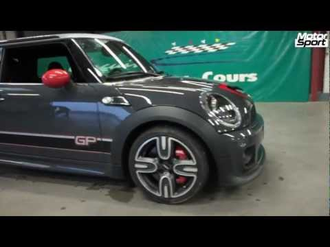 Play with a Mini JCW GP II on wet track (Motorsport)