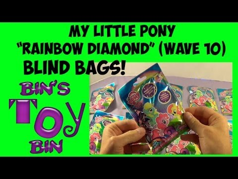 My Little Pony rainbow Diamond Mystery Blind Bags (wave 10) Opening! By Bin's Toy Bin video
