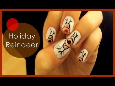 Holiday Reindeer ● Nail Art