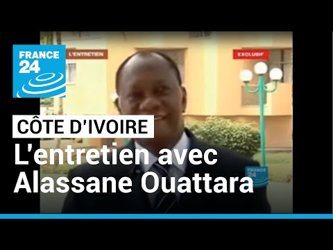 FRANCE 24 L'Entretien - Interview exclusive d'Alassane Ouattara à l'Hôtel du Golf d'Abidjan