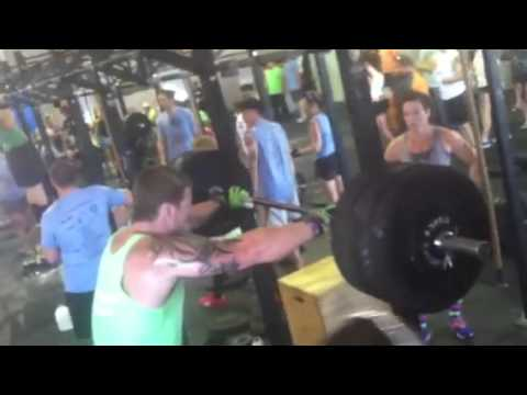 Coach Larry 285# jerk off the back thumbnail