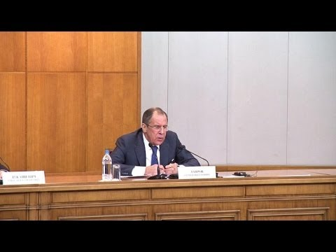 Russia's Lavrov comments on Ukraine violence, Syria talks