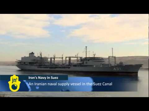 Iran's 18th Fleet in the Suez Canal: Iranian Warships / Destroyer Leave Port of Tartus in Syria
