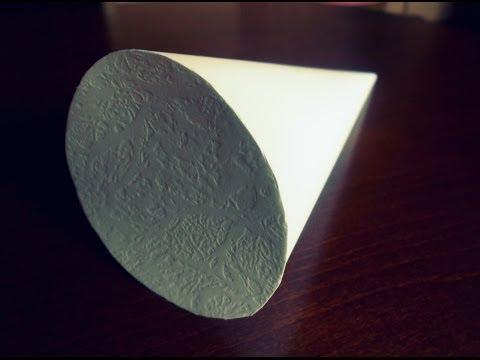 Jak Zrobić Papierowy Stożek Z Podstawą