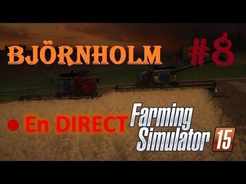 [REDIFFUSION LIVE] Farming simulator 15 | #8 Carrière suivie sur Björnholm