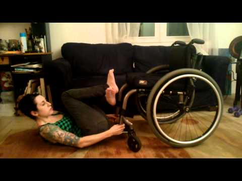 Wheelchair crunches with Friedreich's Ataxia