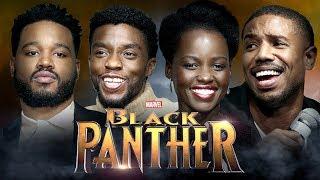 INTERVIEW BLACK PANTHER w Chadwick Boseman Lupita