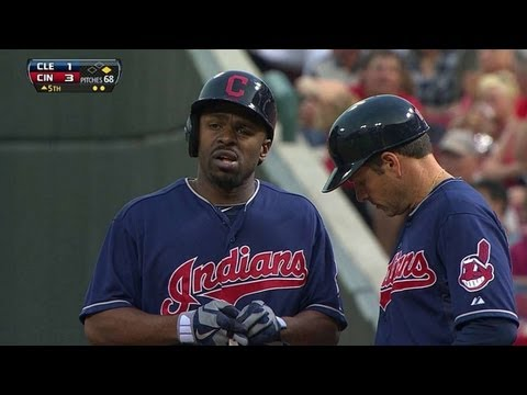 CLE@CIN: Bourn cracks an RBI single to right