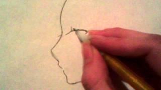 How to draw an anime face turned at an angle (Step by step)