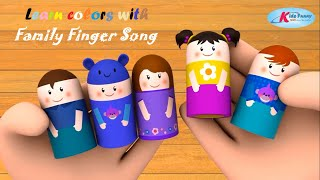 Family finger Song - Learn colors with Family Finger -  Nursery Rhymes|Kids Funny 3d video