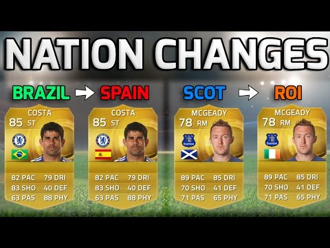 FIFA 15 - NATIONALITY CHANGES!!! - Squad Of Players Who Changed National Teams