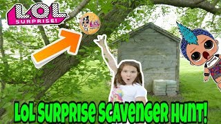 LOL Surprise Confetti Pop Scavenger Hunt In My Backyard!