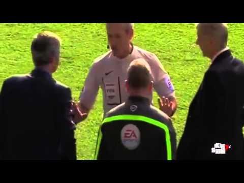 Arsene Wenger vs José Mourinho FIGHT - Chelsea vs Arsenal  Premier League 2014