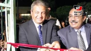 وزير الشباب يفتتح مركز شباب كفر شكر وسط ترحيب الأهالي