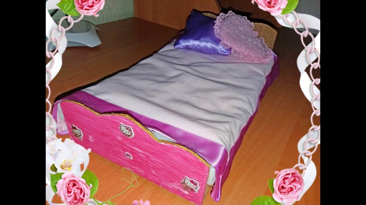 Как сделать кроватку своими руками барби 106