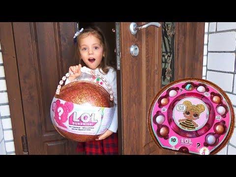 LOL Surprise БОЛЬШОЙ ЗОЛОТОЙ ШАР ЛОЛ сюрприз Giant Ball LOL Игрушки для девочек LOL Dolls UNPACKING