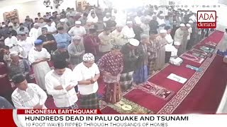 Death toll jumps to 384 after tsunami, quake in Indonesia (English)
