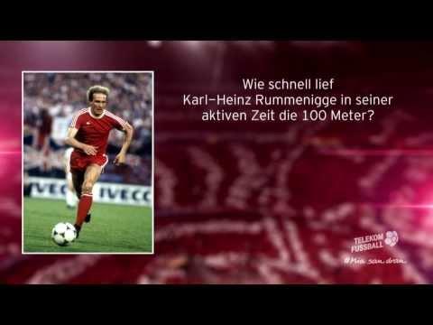Wie schnell lief Karl Heinz Rummenigge die 100 Meter?