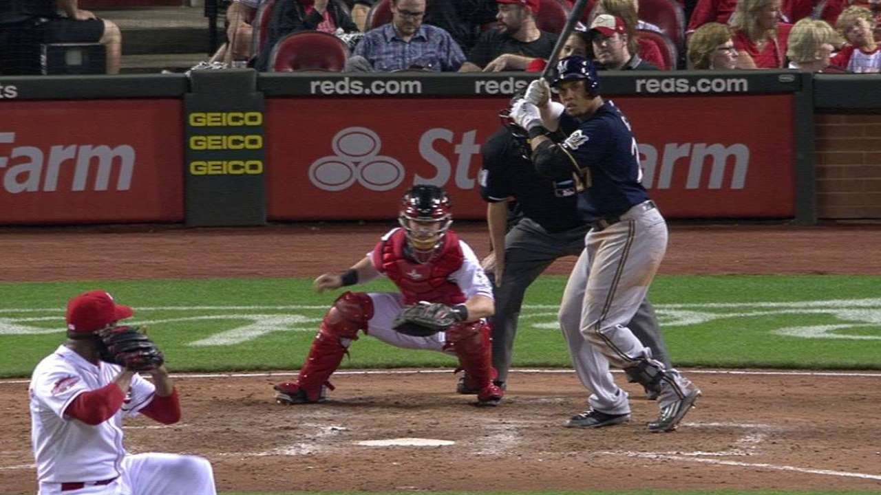 MIL@CIN: Gomez launches a grand slam to pad the lead