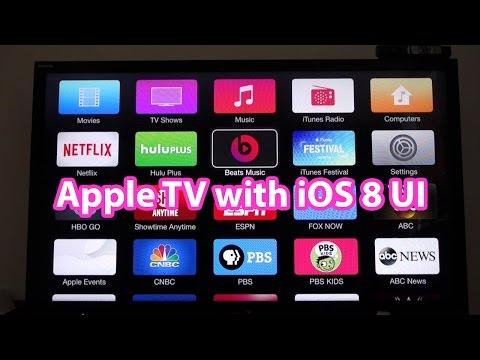 Apple TV iOS 8 with Beats Music, Family Sharing, iCloud Photo