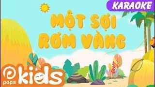 🎤Karaoke Một Sợi Rơm Vàng | 😁Nhạc Thiếu Nhi Cho Bé | Vietnamese Kids Songs