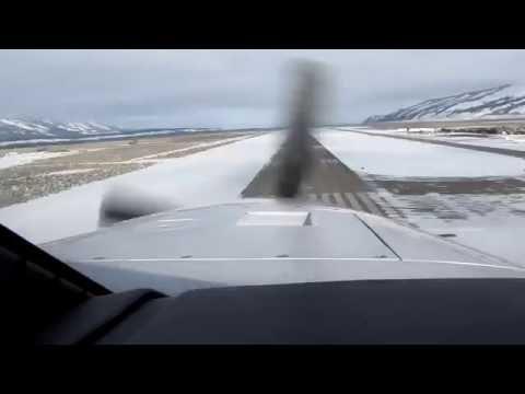 Piper Meridian Landing @ Jackson Hole, WY   GoPro