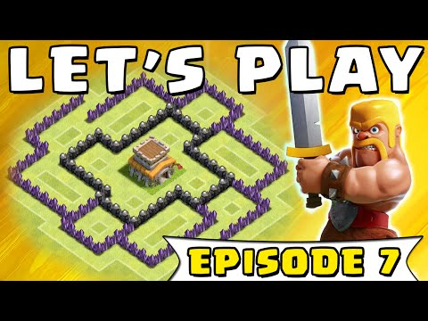 Clash of Clans - Townhall Level 6 Defense Base Design   Let's Play Clash of Clans (#7)