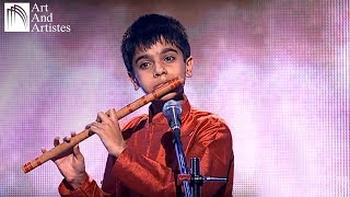 Child prodigy S. Akash playing Raag Durga on Flute | Hindustani Classical Music