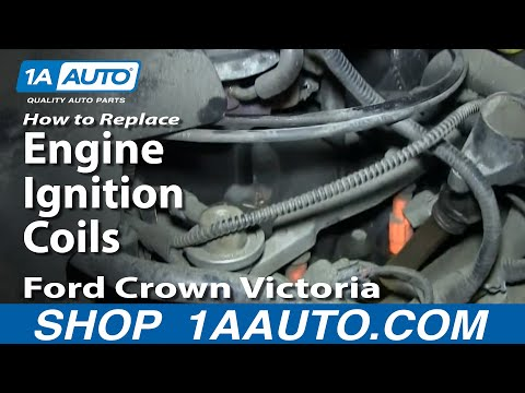 How To Install Replace Engine Ignition Coils 1998-2011 Ford Crown Victoria