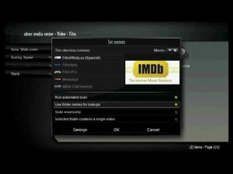 XBMC Tutorial 3: Set Up Your Movie Library