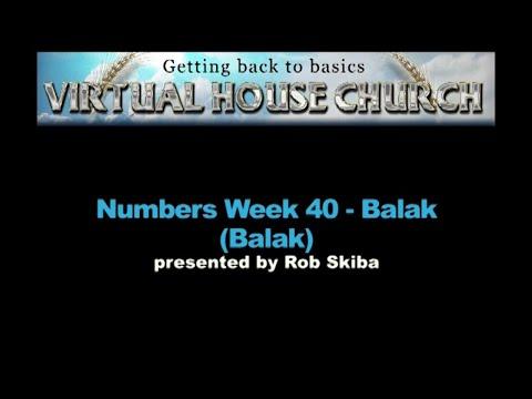 (2020) Virtual House Church - Bible Study Week 40: Balak