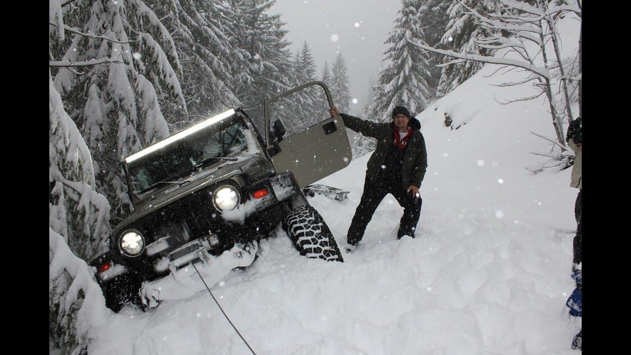 Jeep Wrangler Extreme Snowrun Deep Snow 4x4 Wheeling Youtube