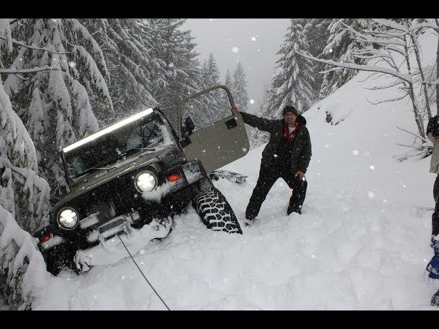 Jeep Wrangler extreme snowrun deep snow 4x4 wheeling