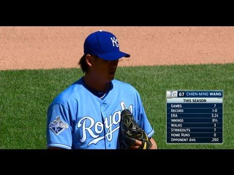 20160504 (20160505 TW) MLB WSH@KC Chien-Ming Wang in 6th 王建民第六局登板上場後援兩局 720P HD