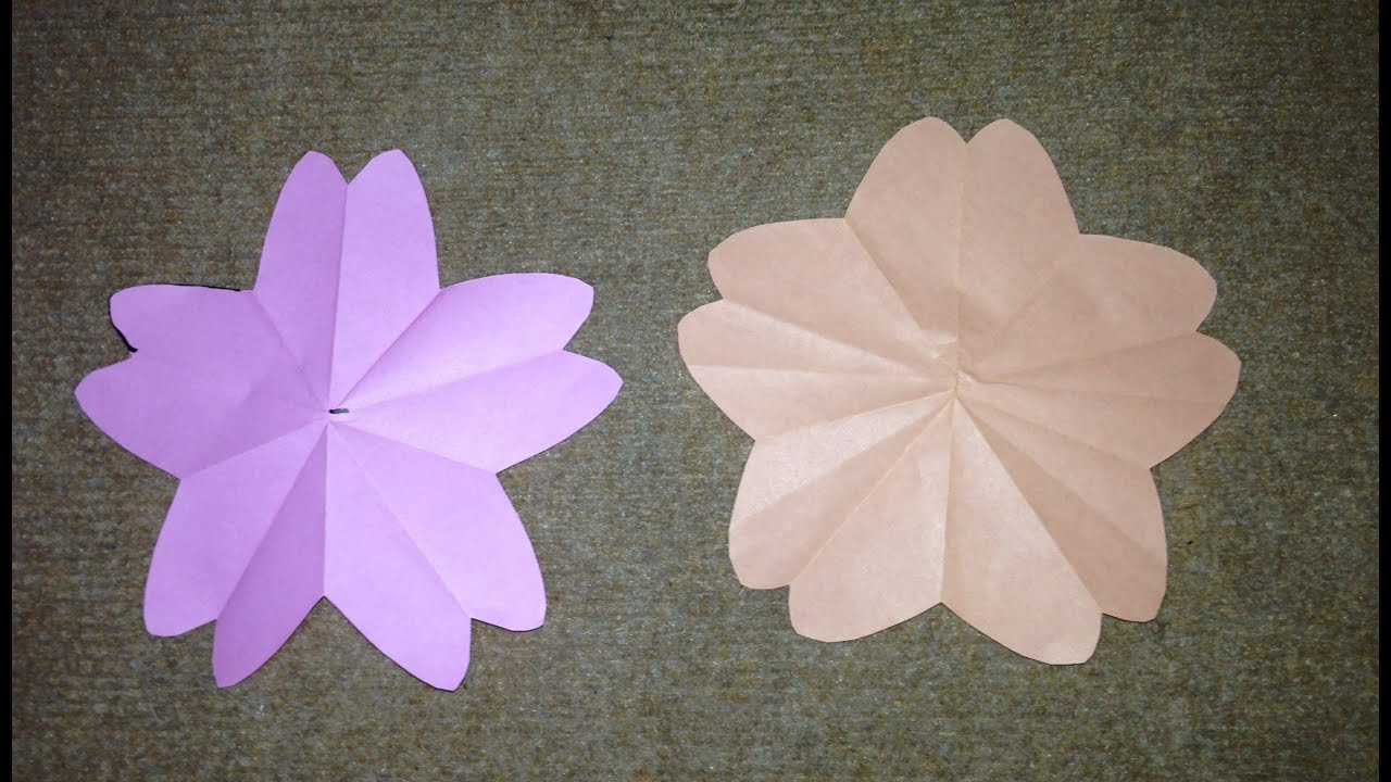 すべての折り紙 折り紙桜の切り方 : 折り紙 さくらの花びら 折り方 ...
