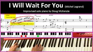I Will Wait For You (Michel LeGrand) - Jazz piano Tutorial