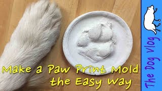 Make a Paw Print Mold -  the Easy Way