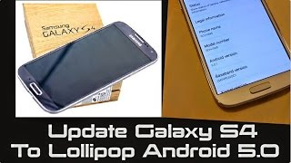 S4 KitKat to Lollipop 5.0 | No Root | How to Manually Update to Lollipop 5