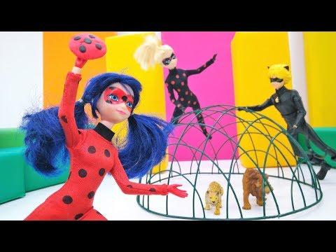 Видео с куклами - Маринетт и Эдриан в цирке - Зверушки без клетки