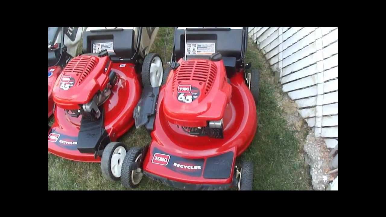 Toro Self Propelled Lawn Mowers Youtube