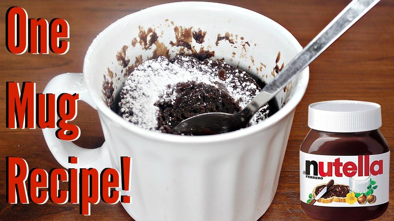 Nutella cake in a mug