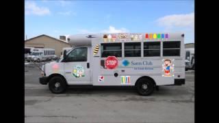 Sam's Club Ice Cream truck Blue Bird Bus Body playing Twinkle Twinkle Little Star
