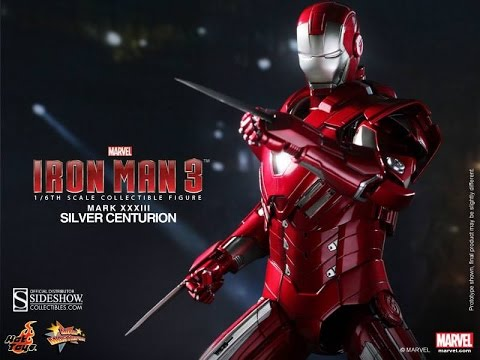 Hot toys ironman mark 33 figure review silver centurion.