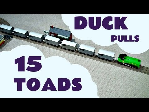 Trackmaster DUCK pulls 15 TOADS Train Set Thomas The Train Kids Toy Thomas The Tank Engine
