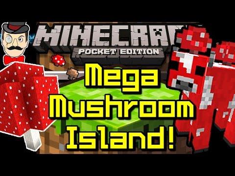 Minecraft Pocket Edition 0.9.5 MEGA MUSHROOM Island SEED!