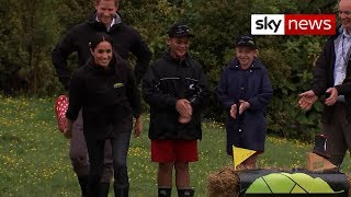 Duchess does 'welly-wanging' - Meghan Markle gives stereotypes the boot