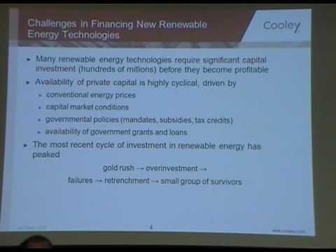Financing of Renewable Energy Technologies - Jim Linfield