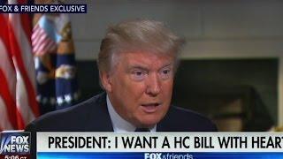 Trump admits he called GOP health bill 'mean'