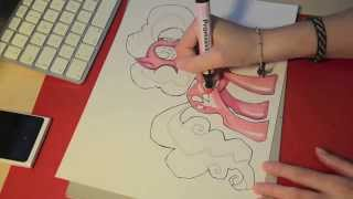 Speed drawing MLP - Pinkie Pie (a second time)