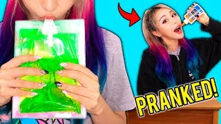 How To Sneak Candy In Class! Edible DIY School Supplies! Prank Wars!